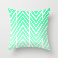 Mint Green -  Pillow Cover Includes Pillow Insert - Green Arrow Pillow - Sofa Pillow Cover - Mint Green Arrow Art - Made to Order