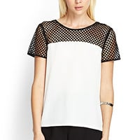 FOREVER 21 Mesh Woven Top