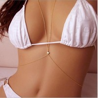 Summer style Body Jewelry Sexy Style Body Chain Belly Waist Crossover Harness Chain Necklace for women = 5987660289