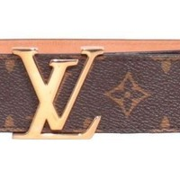 LOUIS VUITTON LV Initiales 40MM Monogram Canvas Belt (SIZE 34)
