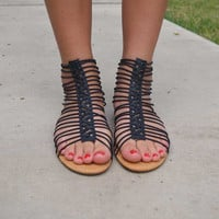 Strappy and Sassy Sandals - Black