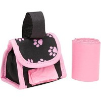 Five Star Pets Dog Walk Waste Bag Dispenser Holder Pink Paw Prints