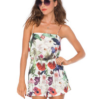 Marley Strappy Playsuit in Botanical Ivory By Motel