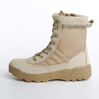 Men Boots High Quality Men Military Tactical Boots Mens Winter Footwear Boots Wear Resisting Casual Shoes MH507