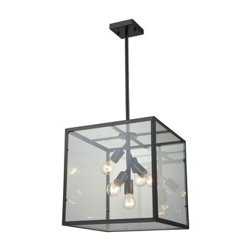 Cluster Box Pendant Oil Rubbed Bronze