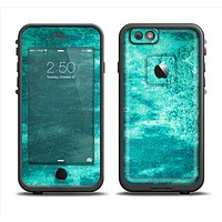 The Grungy Teal Chipped Concrete Apple iPhone 6 LifeProof Fre Case Skin Set