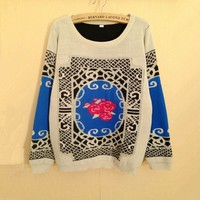Rose Sweater for Women blue