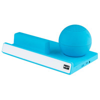 Supersonic Portable Bluetooth Speaker with Stand-Blue