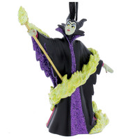disney parks christmas sleeping beauty maleficent glitter ornament new with tag