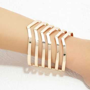 Cutout Chevron Arm Cuff