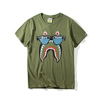 Bape Tide brand funny printing trend casual loose comfortable short T-shirt F-A-KSFZ Green