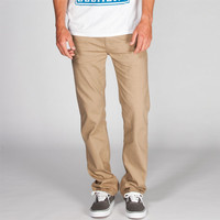 Rsq New York Slim Straight Mens Pants Tan  In Sizes