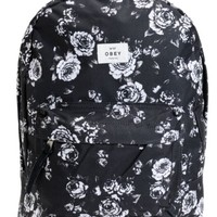 Obey Outsider Black Floral Backpack