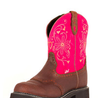 Justin Women's Spice Brown Suede Boot - L9973