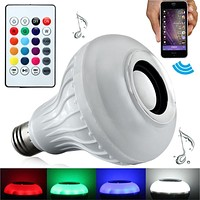 Smart LED Light Bulb with Bluetooth Speaker