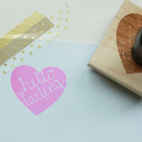 Hello Darling Rubber Stamp