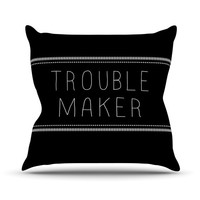 "Skye Zambrana ""Trouble Maker"" Throw Pillow"