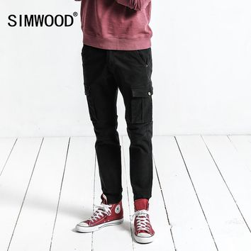 SIMWOOD Cargo Pants Men 2018 Spring New Pockets Army Tactical Pants Men Vintage Casual Trousers Slim Fit Plus Size XC017041