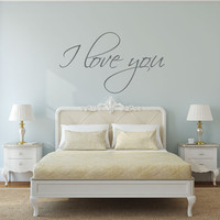 I love you - I love you Sign - I love you wall decal - mirror decal - gift for her - gift for women - bedroom wall decal - bedroom decor - bathroom wall decal - bathroom wall decor