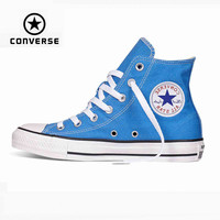 Original Converse all star shoes Sky blue high unisex sneakers canvas shoes for unisex High Skateboarding Shoes free shipping