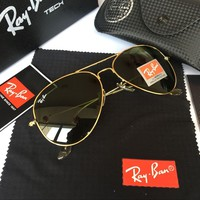 Ray Ban Fashion Sunglasses RB3025 Gold/L.Green