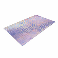 "Matt Eklund ""Tiled Dreamscape "" Pink Purple Woven Area Rug"