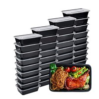 100 Piece: Meal Prep Reusable Containers - BPA-Free - Bento Insulated Lunch Boxes