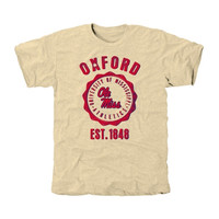 Ole Miss Rebels Old-School Seal Tri-Blend T-Shirt - Cream