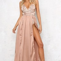The Sweetest Thing Maxi Dress Bronze