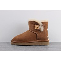 UGG 1016422 Chestnut Classic Mini Bailey Button II Boot Snow Boots #15