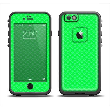 The Subtle Green Paw Prints Apple iPhone 6 LifeProof Fre Case Skin Set