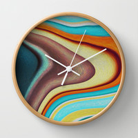 Lava Wall Clock by Stancu Digital Art