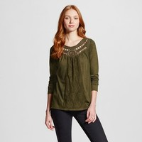 Women's Crochet Trim Shirts - Xhilaration™ (Juniors')