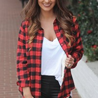 Plaid With The Fur Top