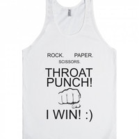 Rock Paper Scissors throat punch I win Tank Top
