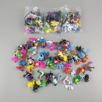 72pcs/96pcs/lot caroon pikachued series ing Action Figures Pikachus figure doll birthday gifts toys for children K76Kawaii Pokemon go  AT_89_9
