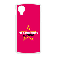 Celebrity Hater White Hard Plastic Case for Google Nexus 5 by Chargrilled