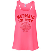 Mermaid Off Duty (Red) Tank Top Racerback