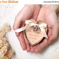 ON SALE 30% OFF Personalized Wedding Ring Bearer Bowl - Leather  - Harlex Hand Stitched
