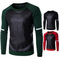 Round-neck Long Sleeve Winter Stylish Pullover Men's Fashion Hoodies [10669407683]