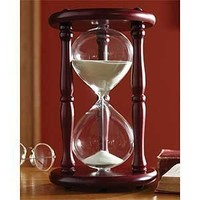 Lily's Home® Hourglass Sand Timer - 20 Minute, Cherry Finish