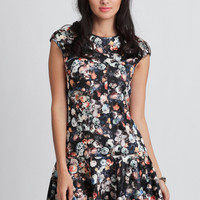 Air Of Mystery Drop Waist Dress