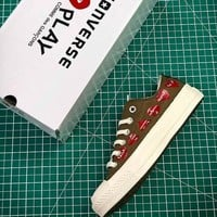 CDG PLAY x Converse Chuck Taylor Material OX Addict Vibram Low Sneakers - Sale