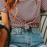 BDG Sienna Stripe Crew-Neck Tee | Urban Outfitters