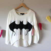 High-Low Bat Sweater