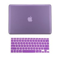 TopCase 2 in 1 Rubberized PURPLE Hard Case Cover and Keyboard Cover for Macbook Pro 13-inch (A1278/with or without Thunderbolt) with TopCase Mouse Pad: Computers & Accessories