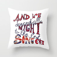 ONE DIRECTION *** Best Song Ever *** Throw Pillow by Monika Strigel in three sizes for your snuggling bed !