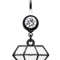 Urban Diamond Shaped Cast Belly Button Ring