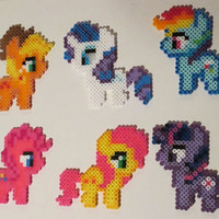 My Little Pony Perler Bead Magnet, Hanging Ornament, or Wall Decor