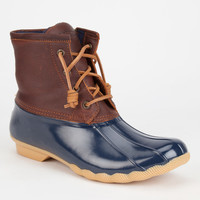 Sperry Saltwater Womens Duck Boots Navy Combo  In Sizes